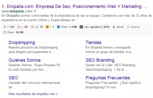 aspecto actual google sitelinks